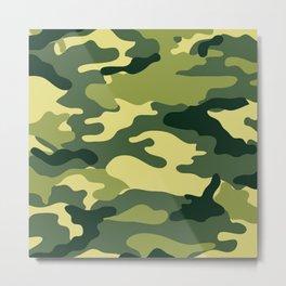 Camouflage Military Metal Print