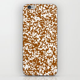 Small Spots - White and Brown iPhone Skin