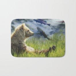 A Little Bear Dreams of Sweet Tomorrows Bath Mat