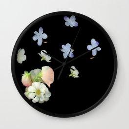 Sweet Pea, Daisy, Hydrangea Glitch Wall Clock
