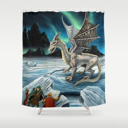 Haunt of the White Dragon Shower Curtain