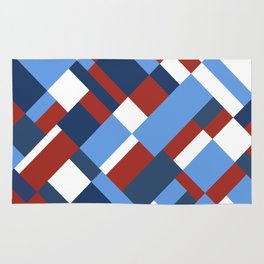Map 45 Red White and Blue Rug