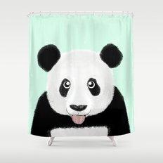 Cute Panda Shower Curtain