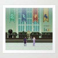 hogwarts Art Prints featuring Hogwarts by FuliFuli