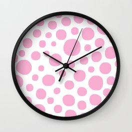 Pink Dots Wall Clock