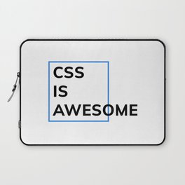 CSS IS AWESOME (Blue & Black) Laptop Sleeve