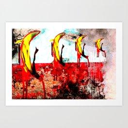 REQUIEM POR UN PLATANO POP 1 Art Print
