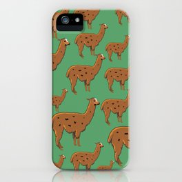 Llama Green iPhone Case