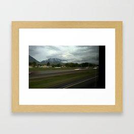 Mountains From a Car Window Framed Art Print