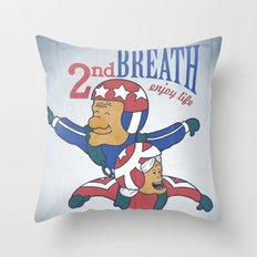 Second Breath Throw Pillow
