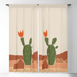 Red Crown cactus Blackout Curtain
