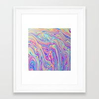 blur Framed Art Prints featuring BLUR by Islawillbaby