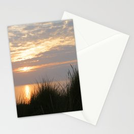 Sunset at Sea II – Coastal Grass and unes -The Netherlands Stationery Cards