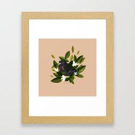 Leaves x Pigeon Framed Art Print