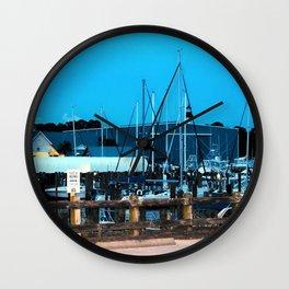 Port St. Joe Marina view 3 Wall Clock