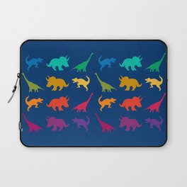 Dino Parade in Navy Blue Laptop Sleeve