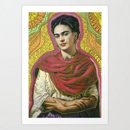 Holy Frida / Santa Frida Art Print