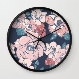 Brooklyn Botanic Garden Blush Wall Clock