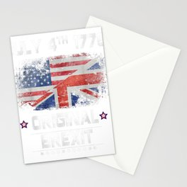 July 4th 1776 Original Brexit USA T-Shirt US and UK Flag Stationery Cards