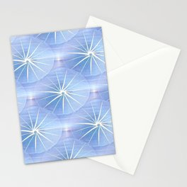 Paper Parasols (blue) Stationery Cards