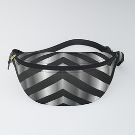 High grade raw material stainless steel and black zigzag stripes Fanny Pack