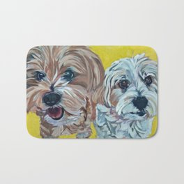 Ollie and Bailey Dog Portrait Bath Mat