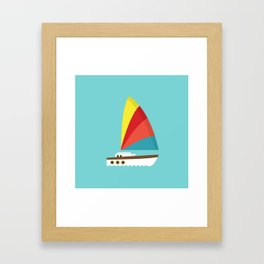 Sailboat II Framed Art Print