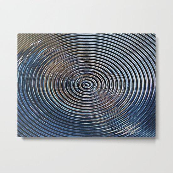 METALLIC BLUE VORTEX Metal Print