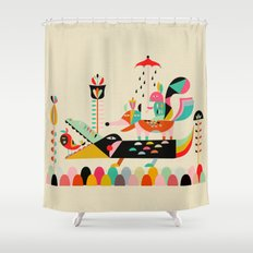 Wired Jungle Shower Curtain