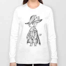 Red Mage - Black and White Long Sleeve T-shirt