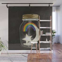 a little jar of happiness Wall Mural