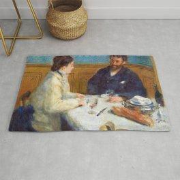 Luncheon by Pierre-Auguste Renoir Rug