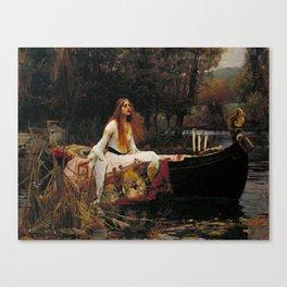John William Waterhouse - The Lady of Shalott, 1888 Canvas Print