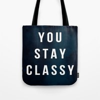 classy Tote Bags featuring CLASSY by Chrisb Marquez