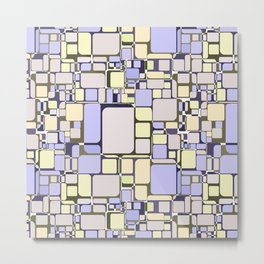 Abstract geometric pattern.4 Metal Print