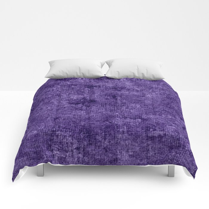 Gentian Violet Oil Painting Color Accent Comforters