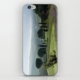 Panoramic view of Val d'Orcia, Tuscany, Italy iPhone Skin