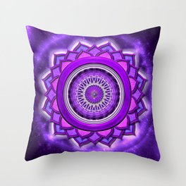 "Sahasrara Chakra - Crown Chakra - Series ""Open Chakra"" Throw Pillow"