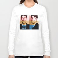 frank sinatra Long Sleeve T-shirts featuring Classic Frank Sinatra  by Brandon Minieri