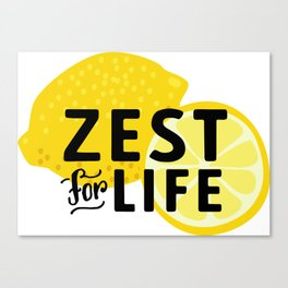 Zest for Life Canvas Print