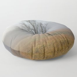 In a Fog - Mystical Morning in the Great Smoky Mountains Floor Pillow