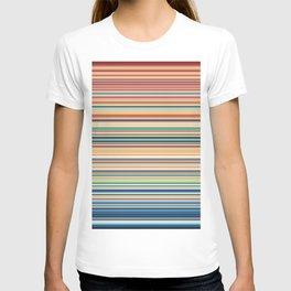 Multicolor horizontal stripes background T-shirt