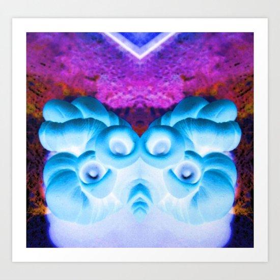 Sea Creature #1: Deep Sea Bioluminescence  Art Print