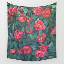 Camellias, lips and berries. Wall Tapestry