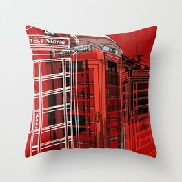 Phone Box Throw Pillow