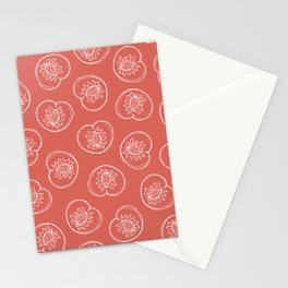 Line Drawn Peaches on Dusty Pink Stationery Cards