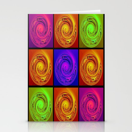 Abstract Collage Art Stationery Cards