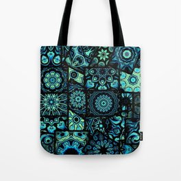 Patchwork in Blues Tote Bag