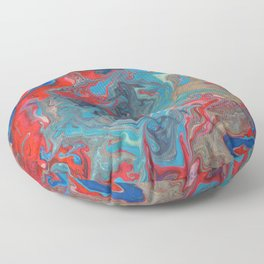 Abstract Oil Painting 20 Floor Pillow