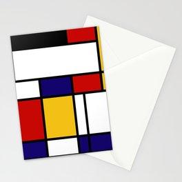 Mondrian Shape Art Stationery Cards